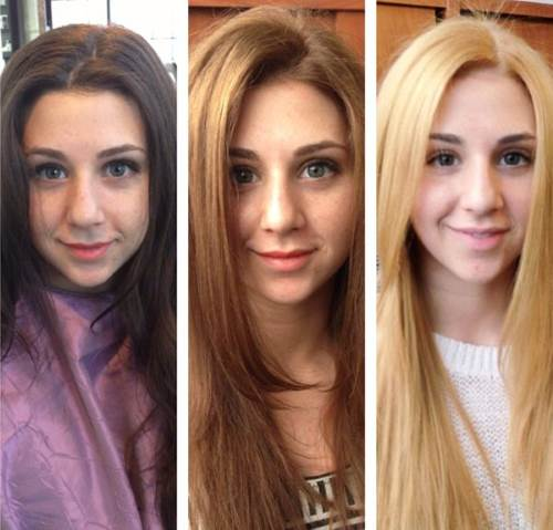 тонировка волос в салоне